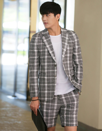 M.SUMMER CLASSIC CHECK SUIT(상의)